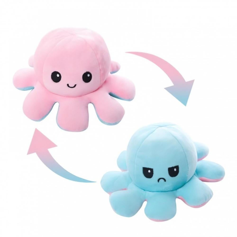 Мягкая игрушка осьминог перевертыш