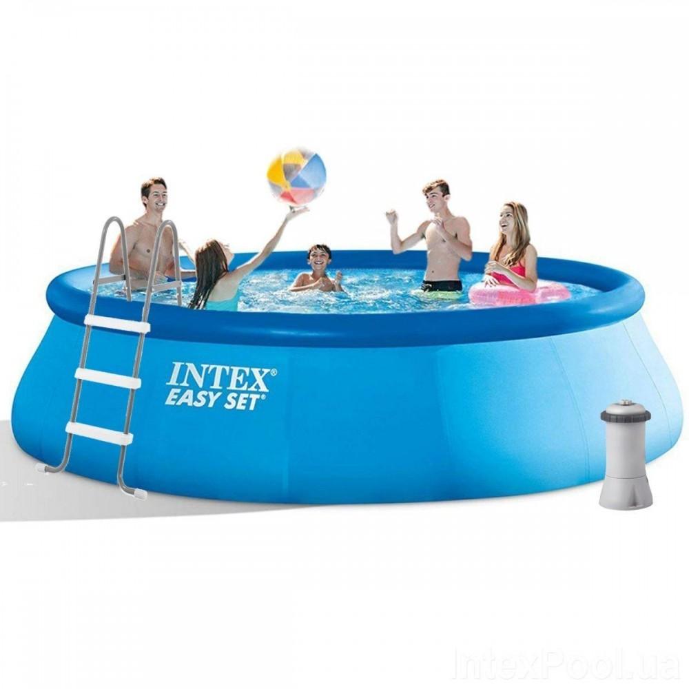 Надувной бассейн Intex 26166, 457 х 107 см