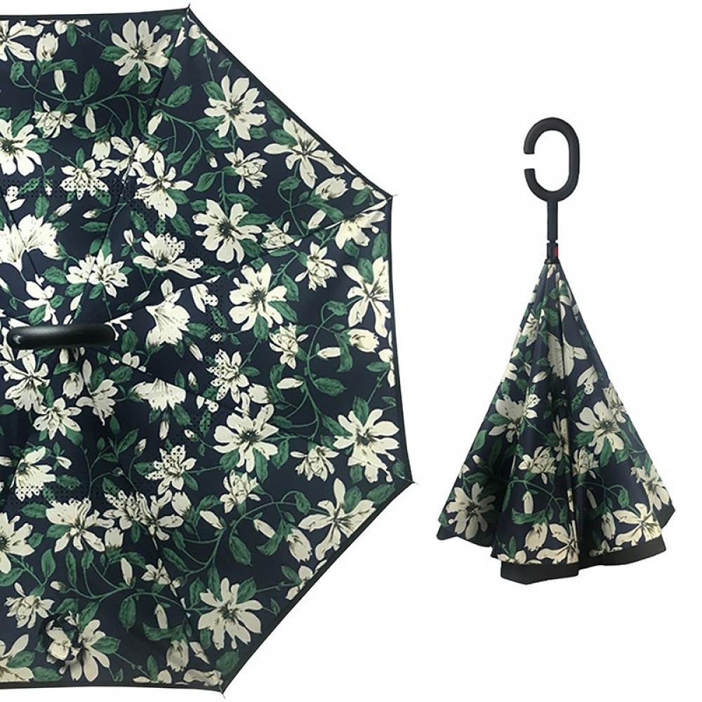 Зонт обратного сложения Up-Brella цветок лилия