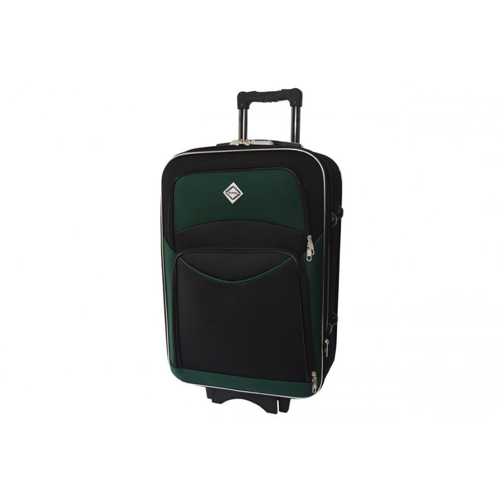 Чемодан Bonro Style небольшой, черно-зеленый