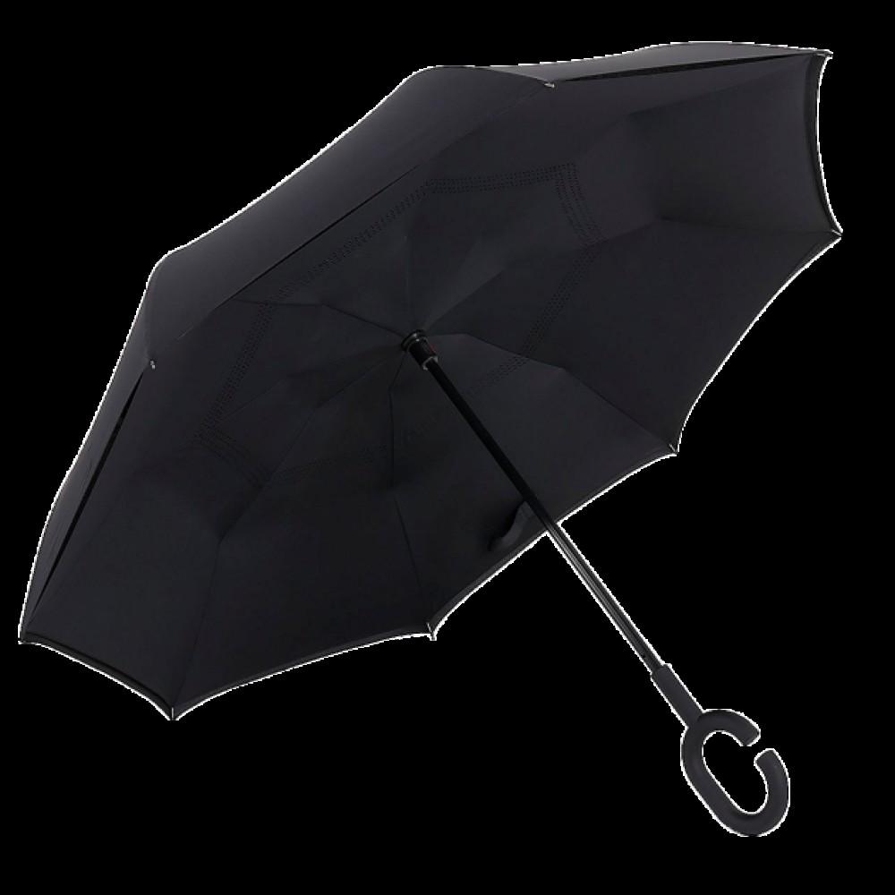 Зонт наоборот, умный зонтик Up brella, черный