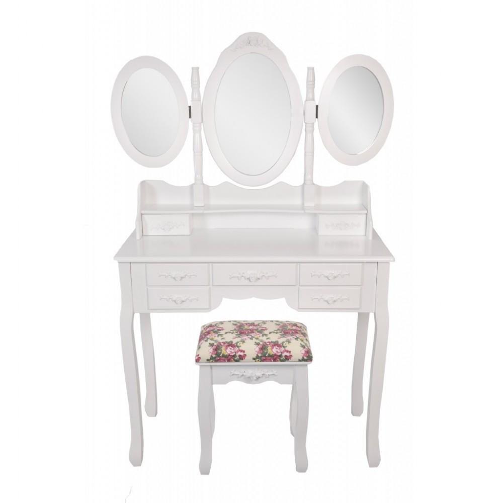 Столик косметический Bonro- В020, красная табуретка