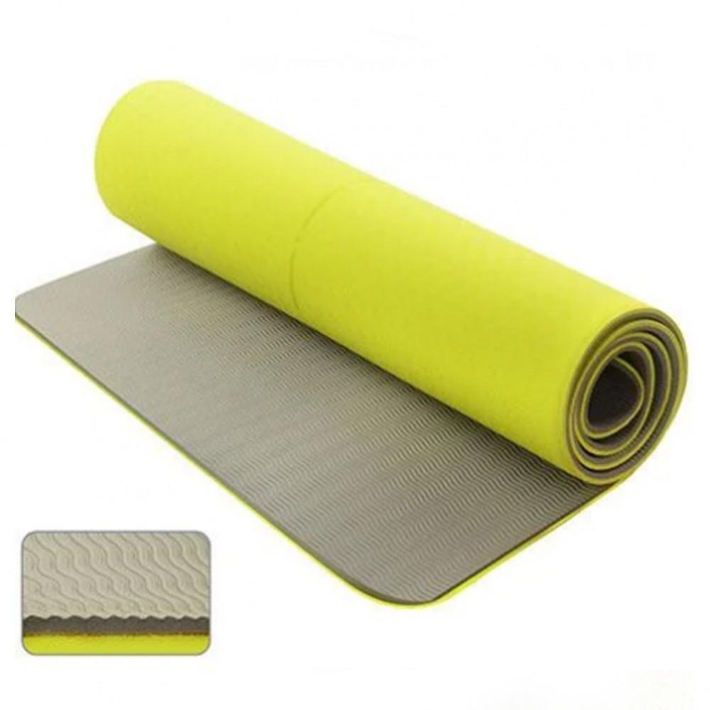 Мат для йоги Stenson TPE 173 х 61 см двухсторонний, 17820