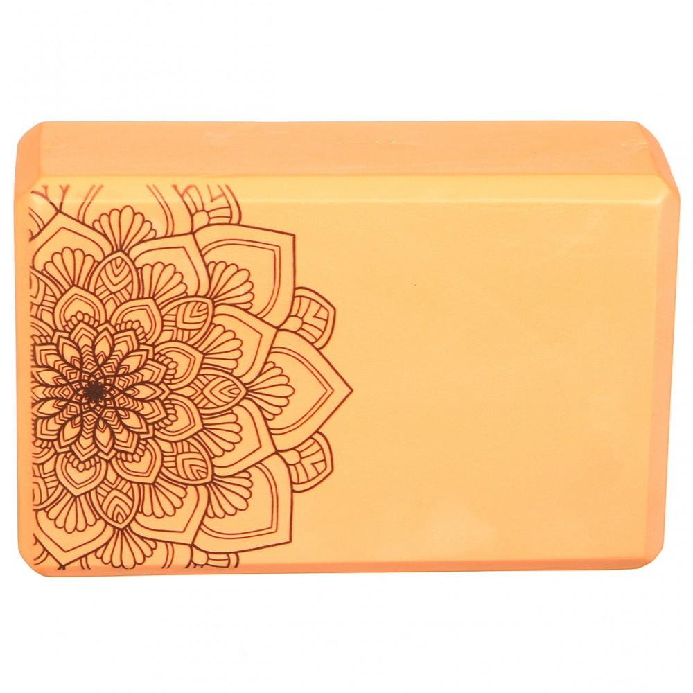 Блок для йоги Eva 23 х 7.5 х 15 см, оранжевый