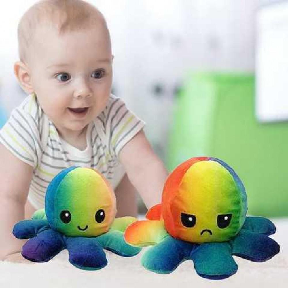 Чудо игрушка плюшевый осьминог-перевертыш мягкий настроение 2 в 1