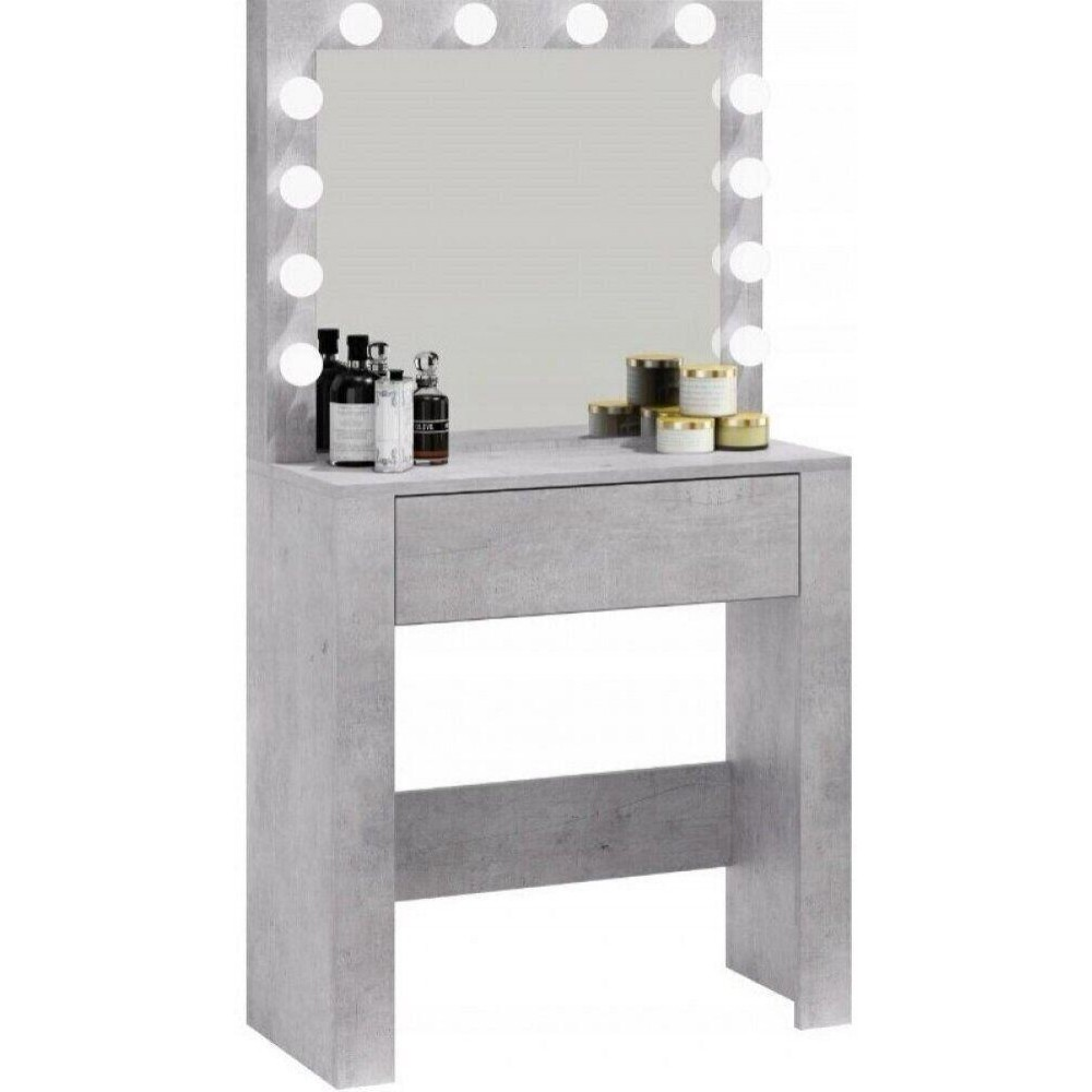 Столик косметический с подсветкой Bonro B070, серый