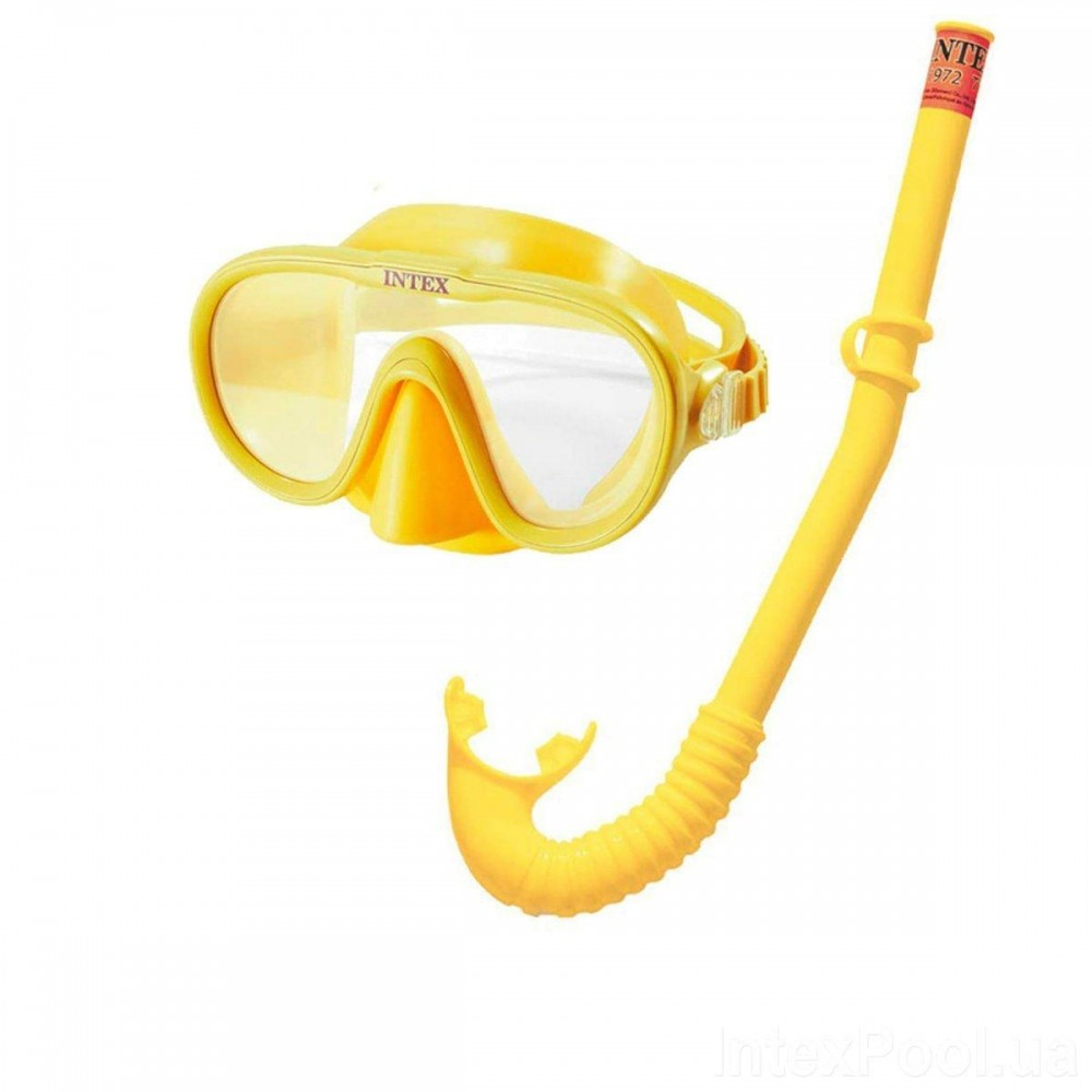 Набор для плавания Intex 55642 размер M, желтый