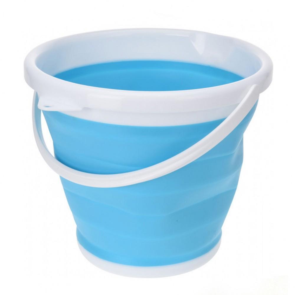 Ведро складное Silicon Bucket 10 литров, голубое
