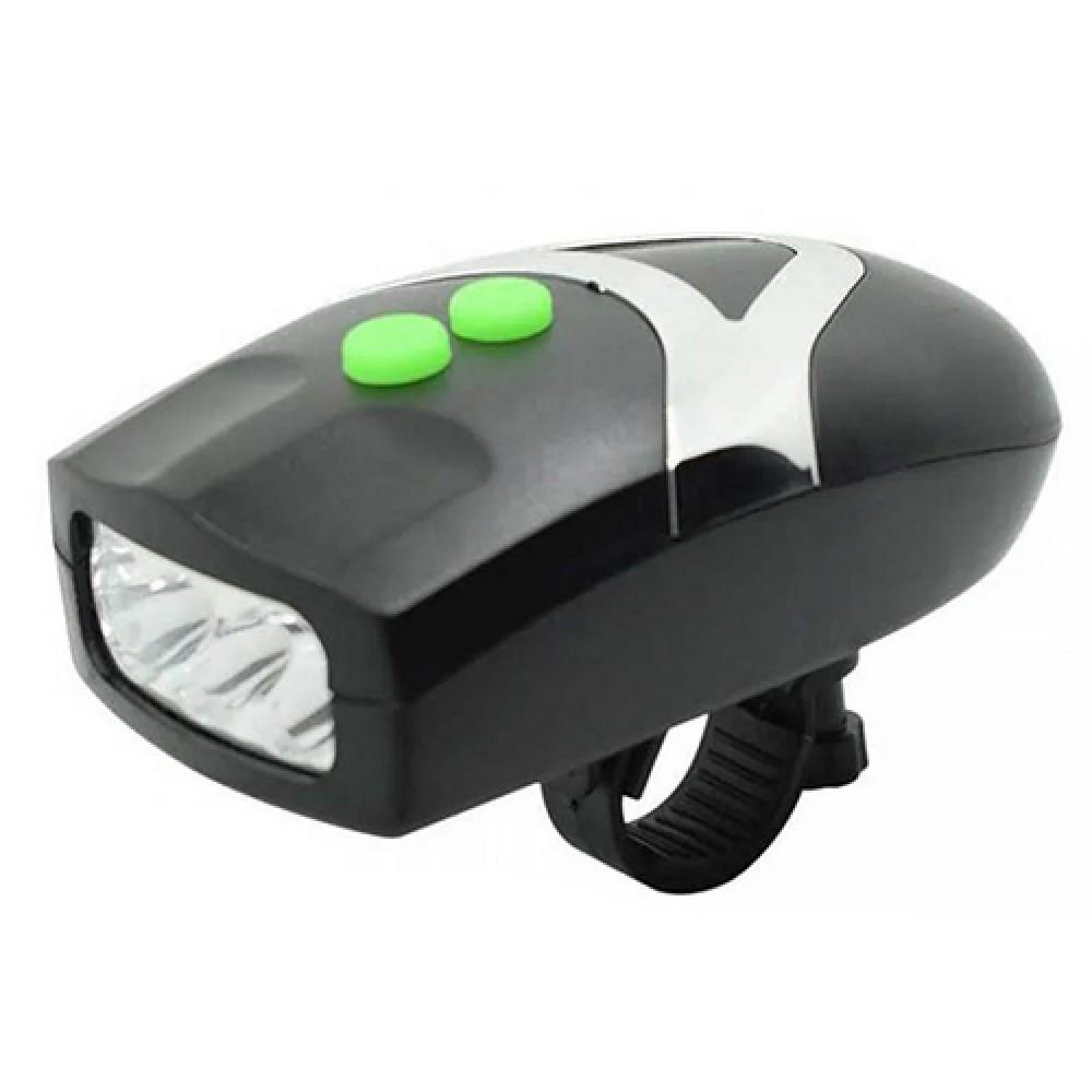 Велосипедный фонарь с велосипедным звонком FY-037-3LED