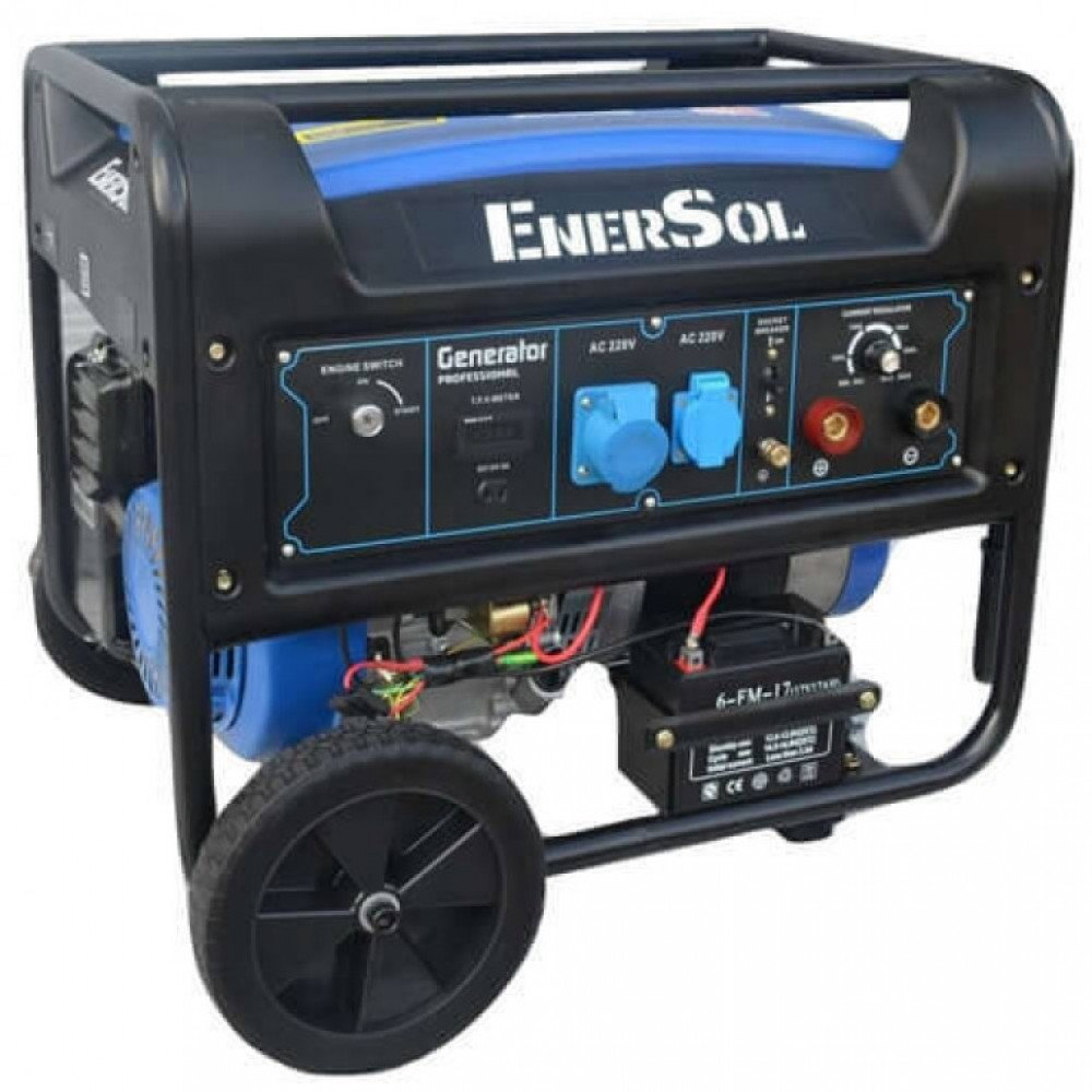 Бензиновый сварочный генератор однофазный EnerSol SWG-7E, 6,6 кВА