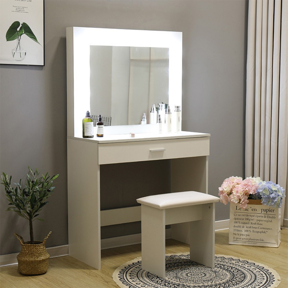 Туалетный столик + табурет Avko ADT 001 White, Led подсветка