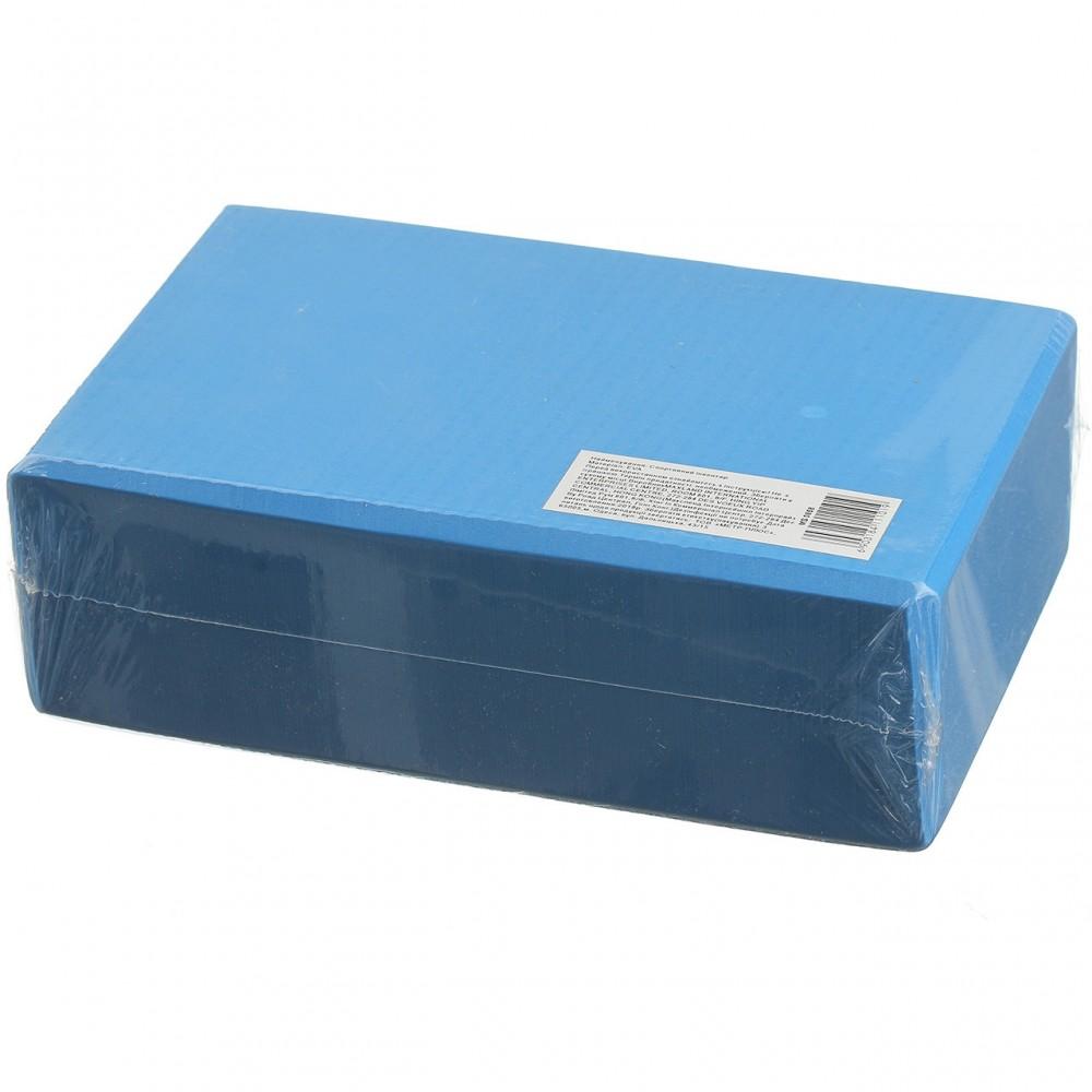 Блок для йоги Eva 23 х 7.5 х 15 см, 0858-8, синий