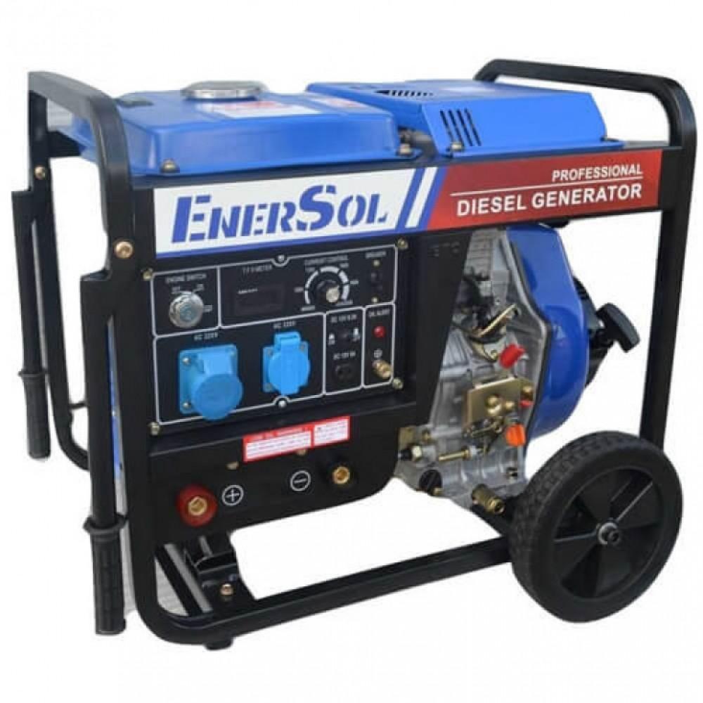 Дизельный сварочный генератор однофазный EnerSol SWD-7E, 6,6 кВА