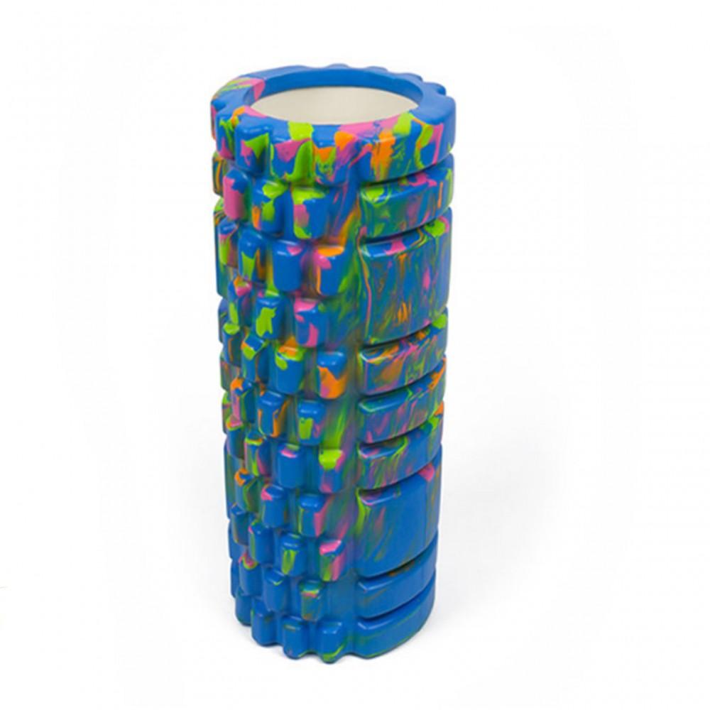 Ролик массажный для йоги Eva 29.5 х 9 см, синий
