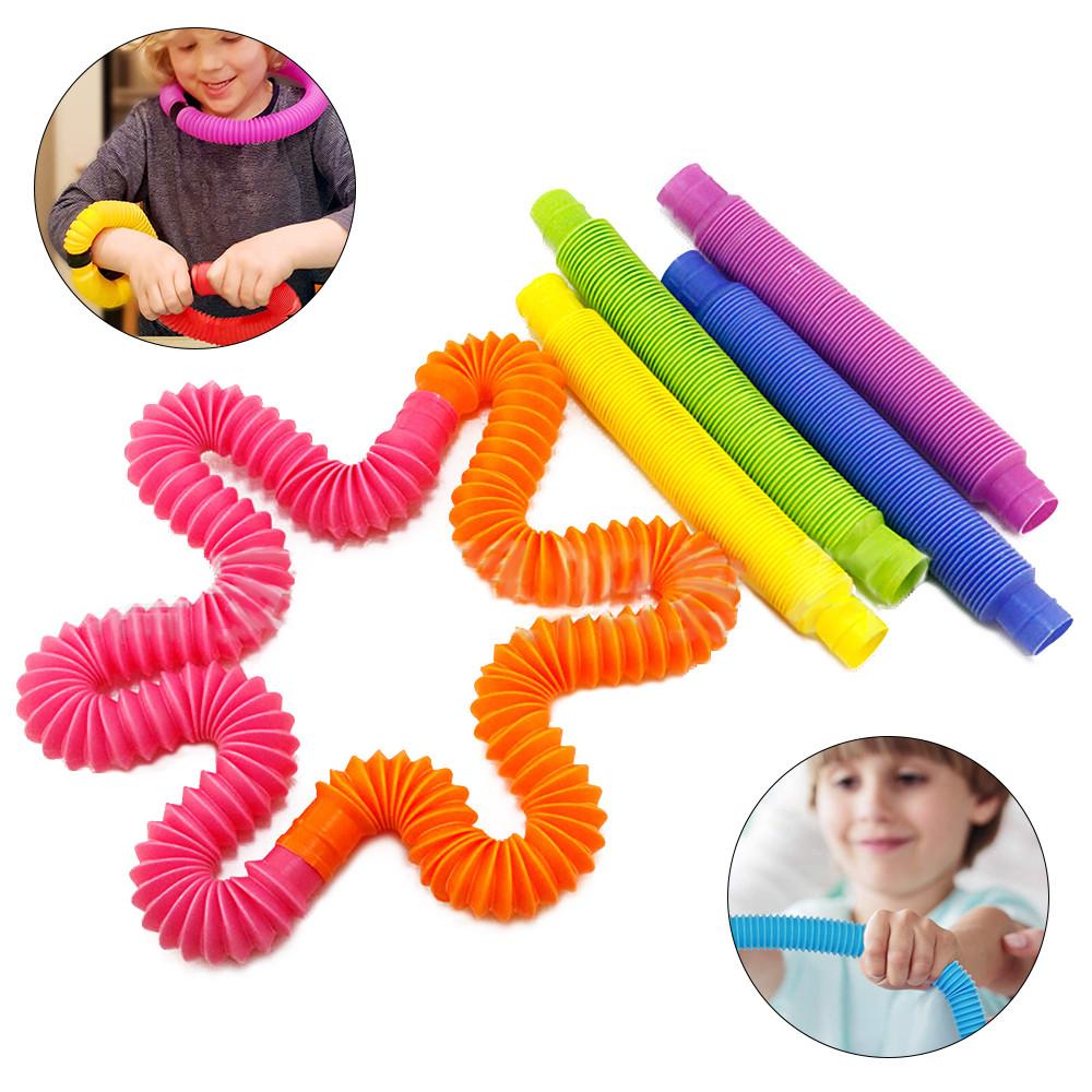 Детская игрушка антистресс Pop Tube, набор 5 шт