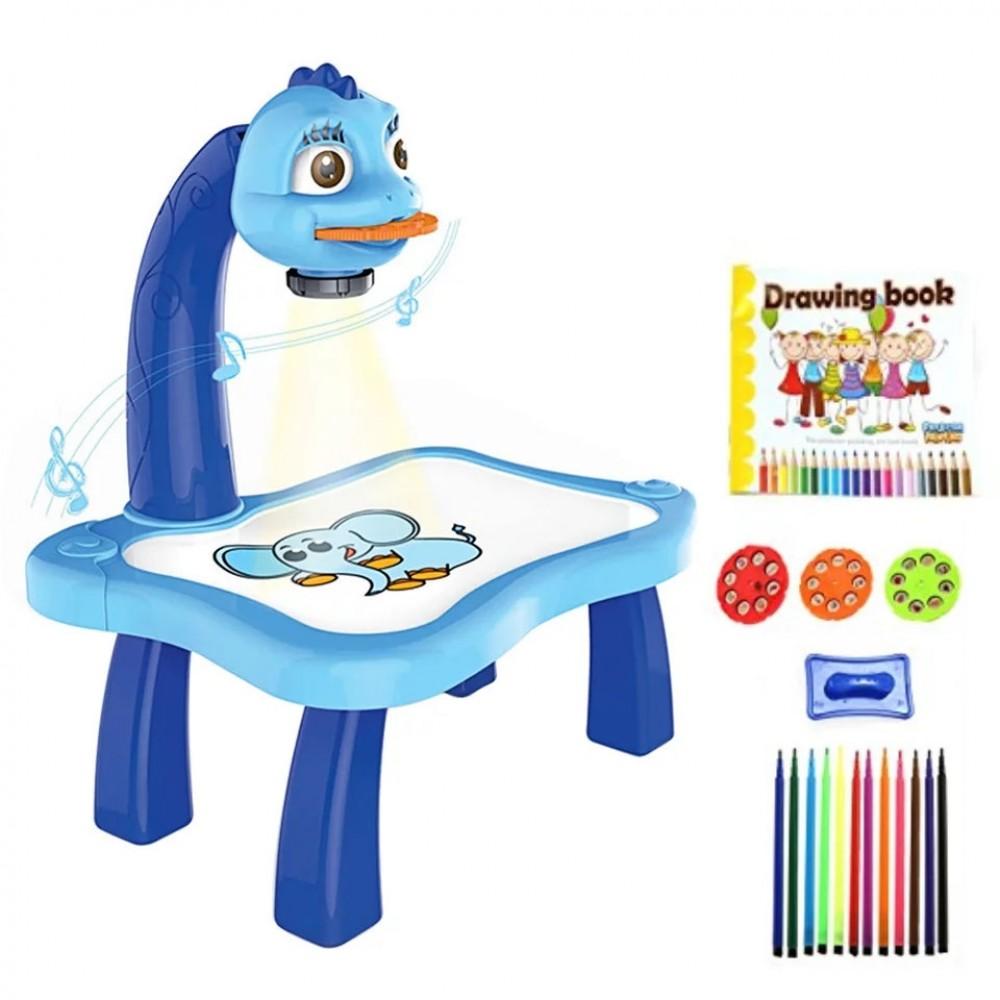 Стол детский для рисования со светодиодной подсветкой, синий