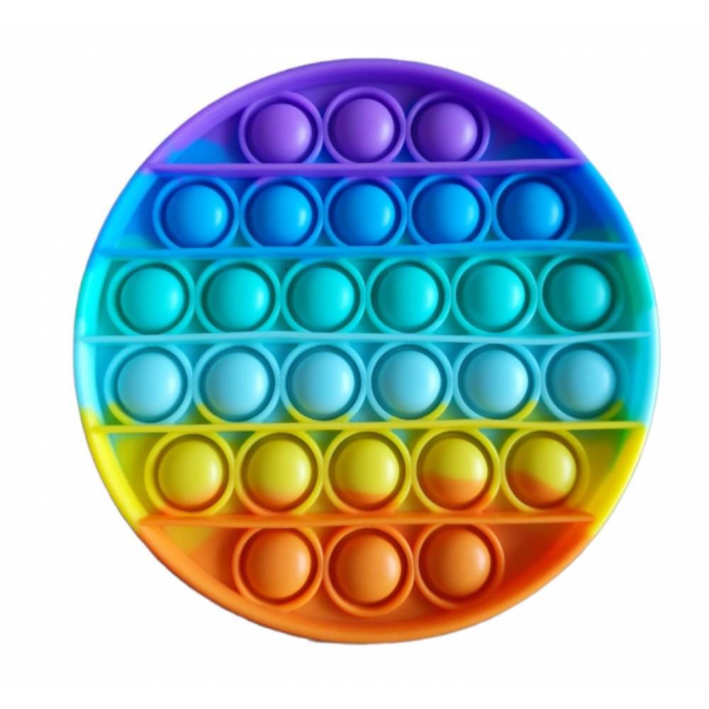 Антистресс сенсорная игрушка Pop It радужный круг