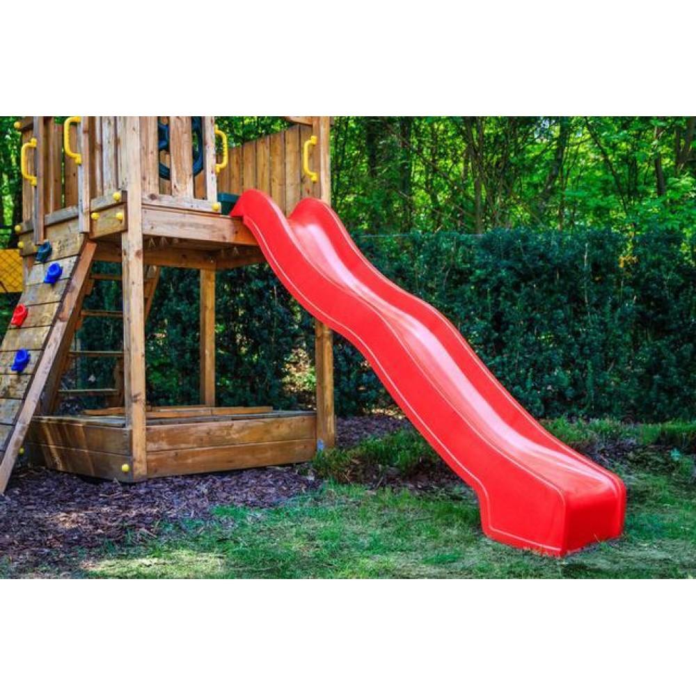 Горка спуск 1,75м для детской площадки Красная