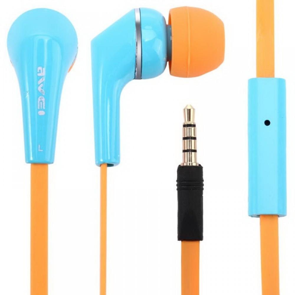 Наушники гарнитура вакуумные Awei ES-Q7i Blue