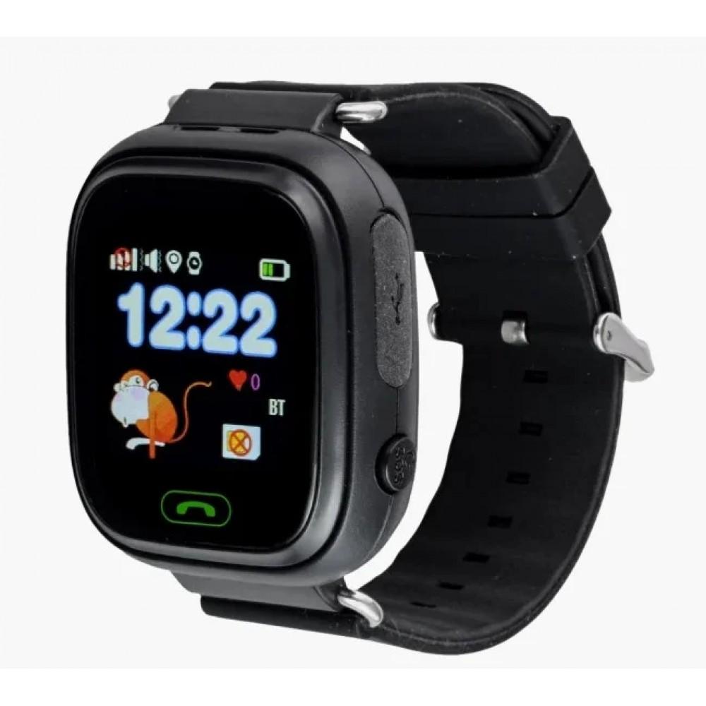 Умные детские часы Smart Baby Watch Q90 с GPS трекером, черные