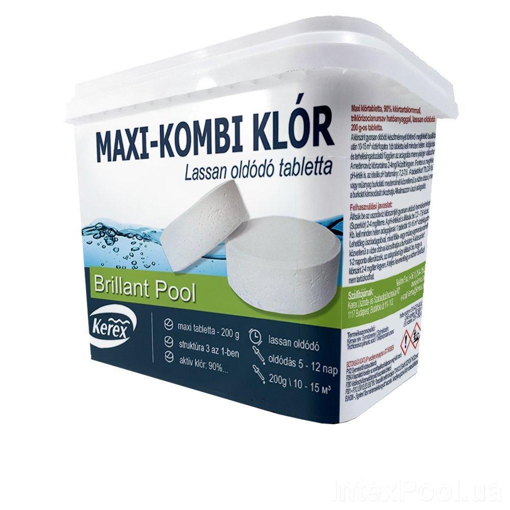 Таблетки для бассейна Max «Комби хлор 3 в 1» Kerex 80003, 2 кг, Венгрия