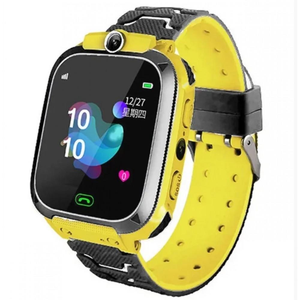 Детские умные smart часы с GPS TD07S с камерой, желтые
