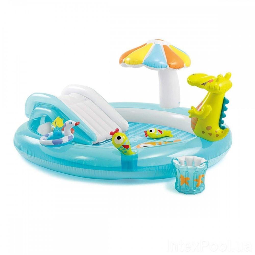 Надувной игровой центр Intex «Крокодил», 57165