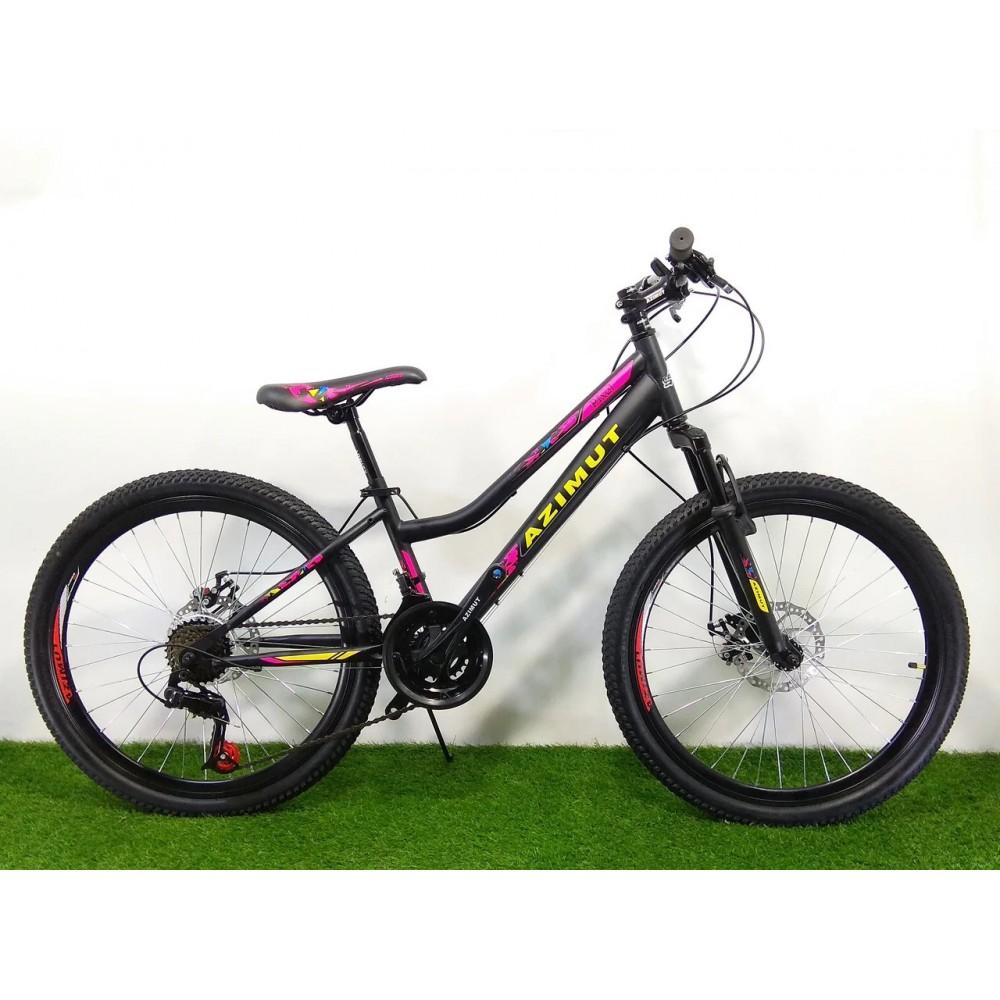 Горный велосипед для девочек Azimut Pixel 24 GD, рама 12