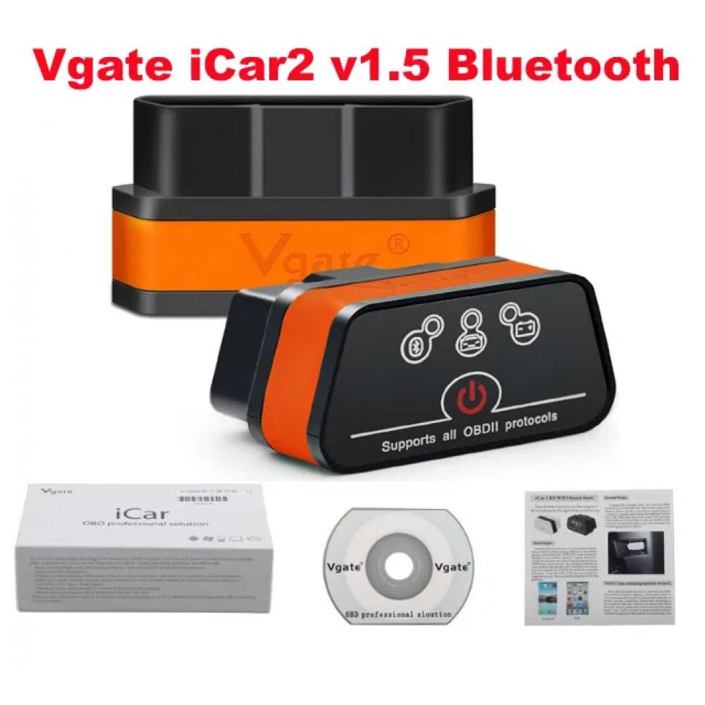 Aвто сканер Vgate iCar2 v1.5 Bluetooth/блютуз OBD2 ELM327, 2020г.