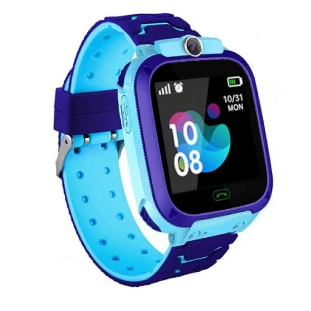 Детские умные smart часы с GPS TD07S с камерой, синие