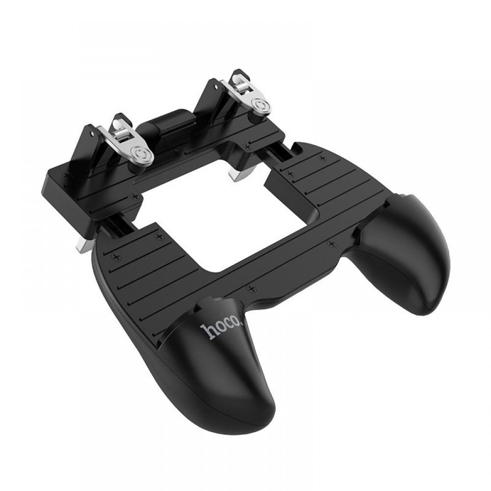 Мобильный геймпад с триггерами Hoco GM2, для PUBG Mobile, Black