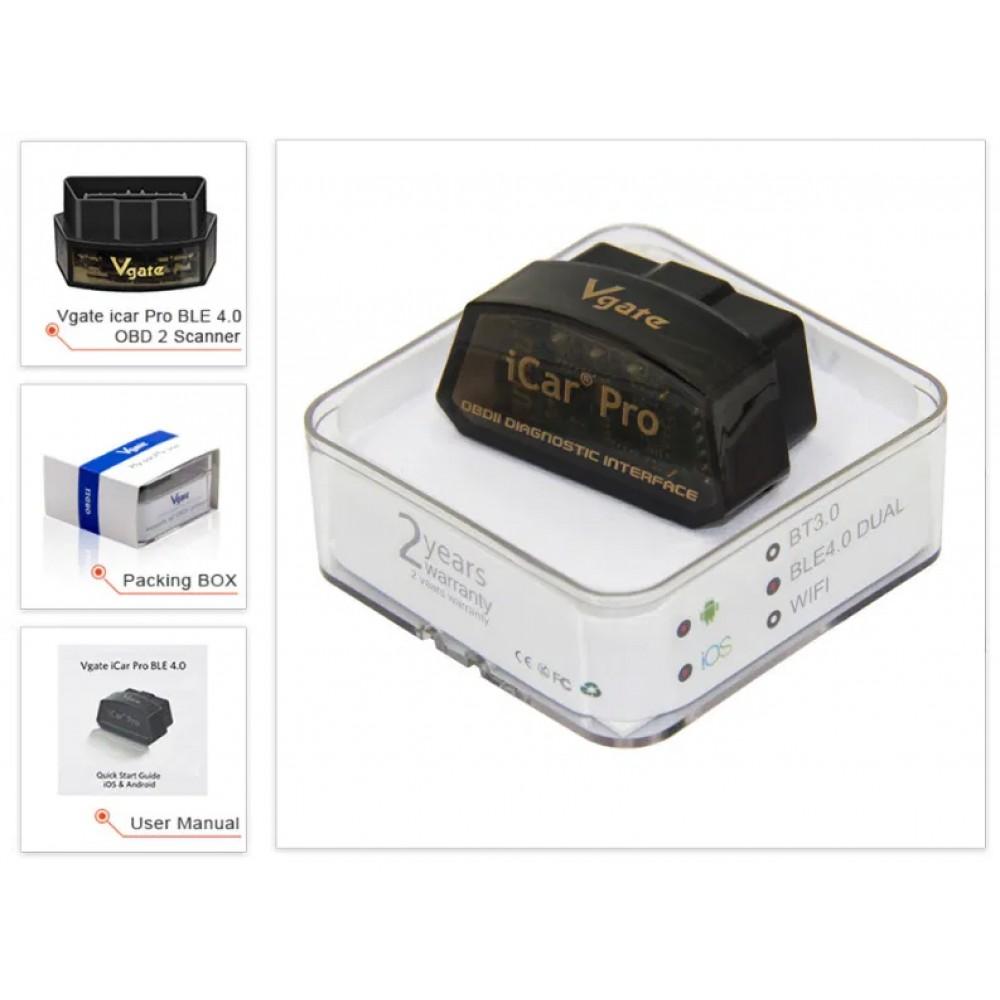 Диагностический OBD2 сканер Vgate iCar Pro ELM327 Блютуз Android