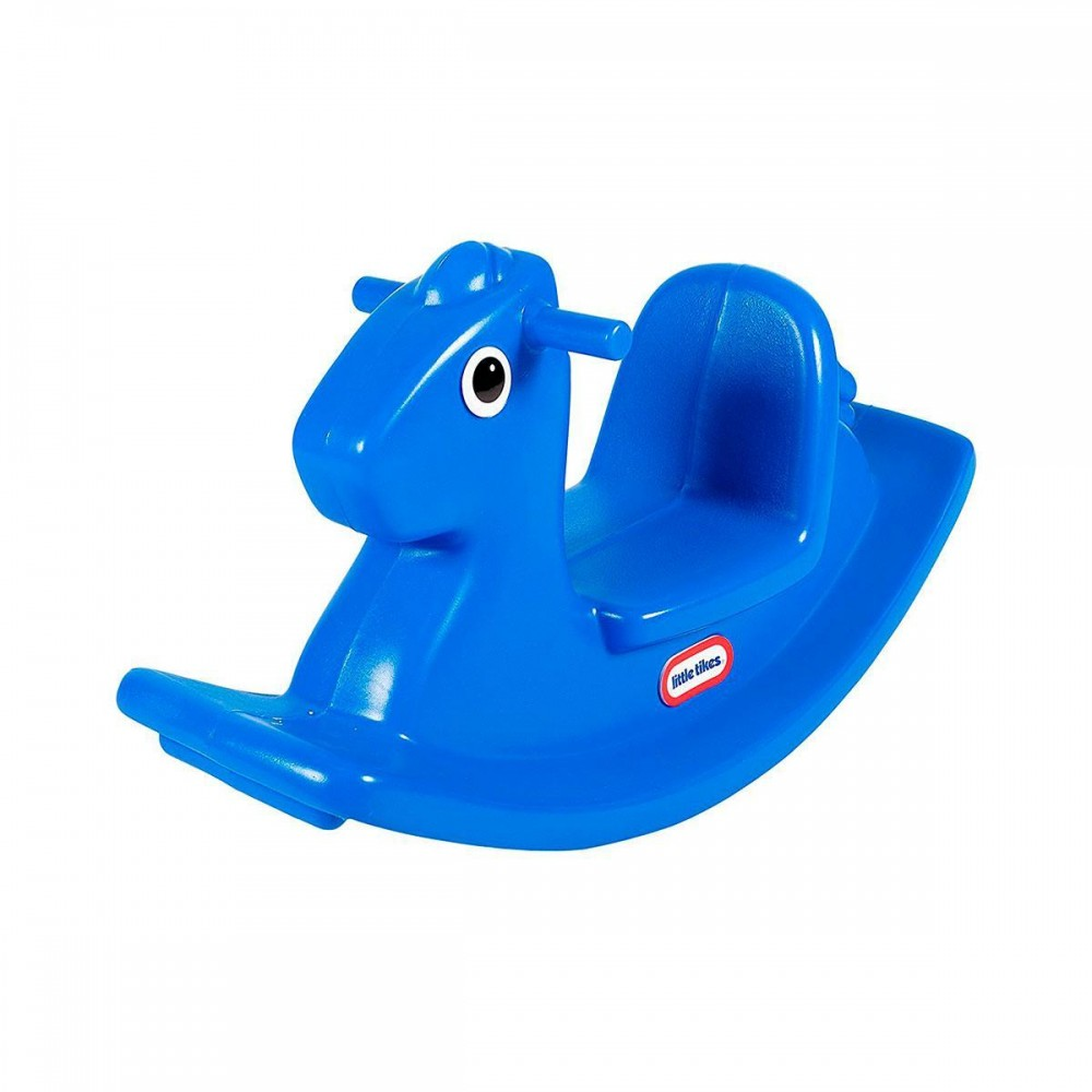 Качалка Веселая лошадка Little Tikes, синяя