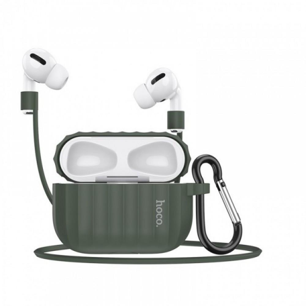 Комплект для Apple Airpods Pro Hoco WB20 Fenix protective cover Green