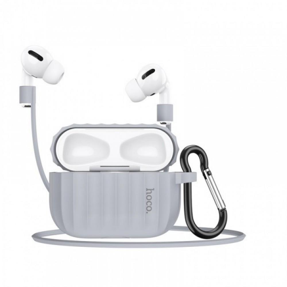 Комплект для Apple Airpods Pro Hoco WB20 Fenix protective cover Gray