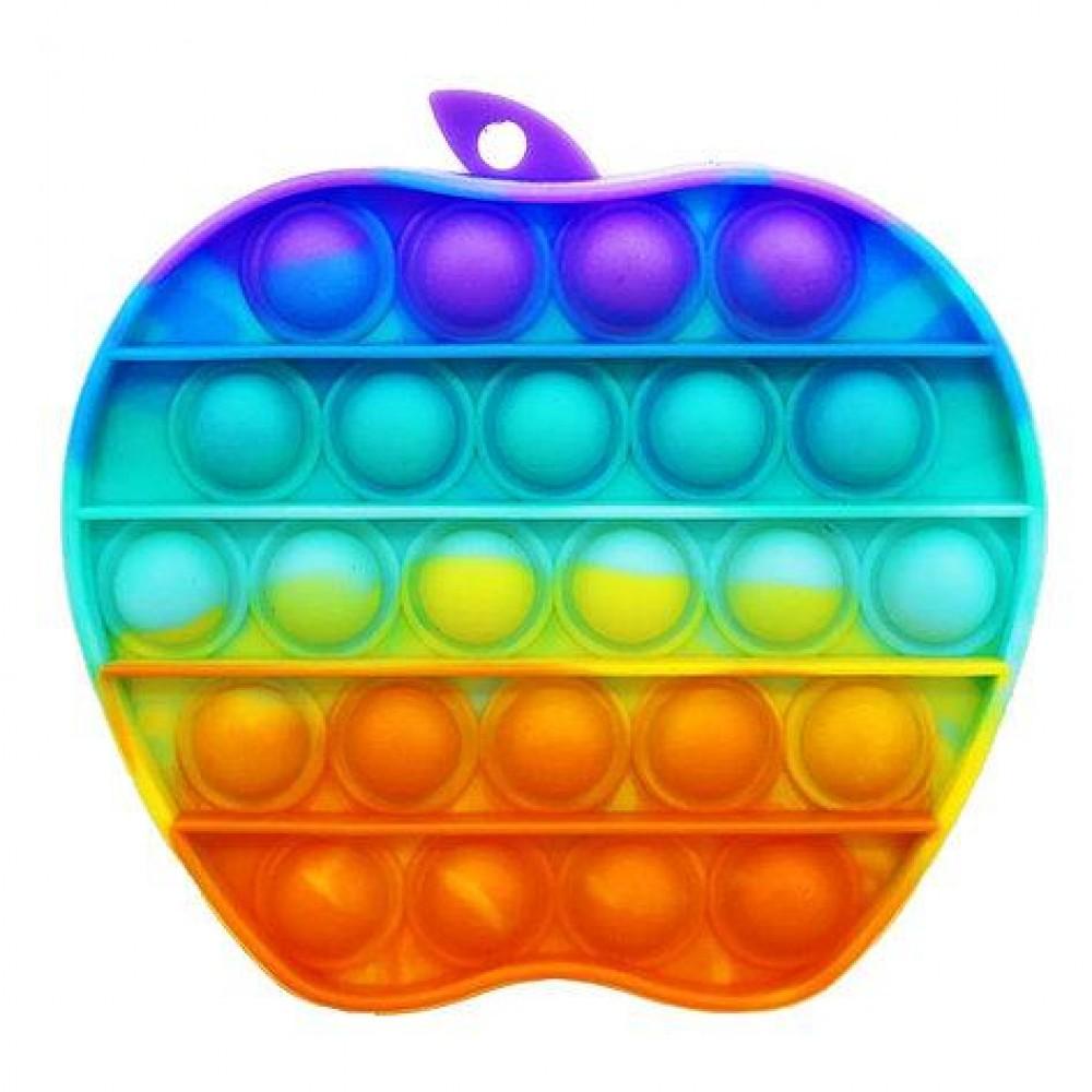 Антистресс сенсорная игрушка Pop It радужное яблоко