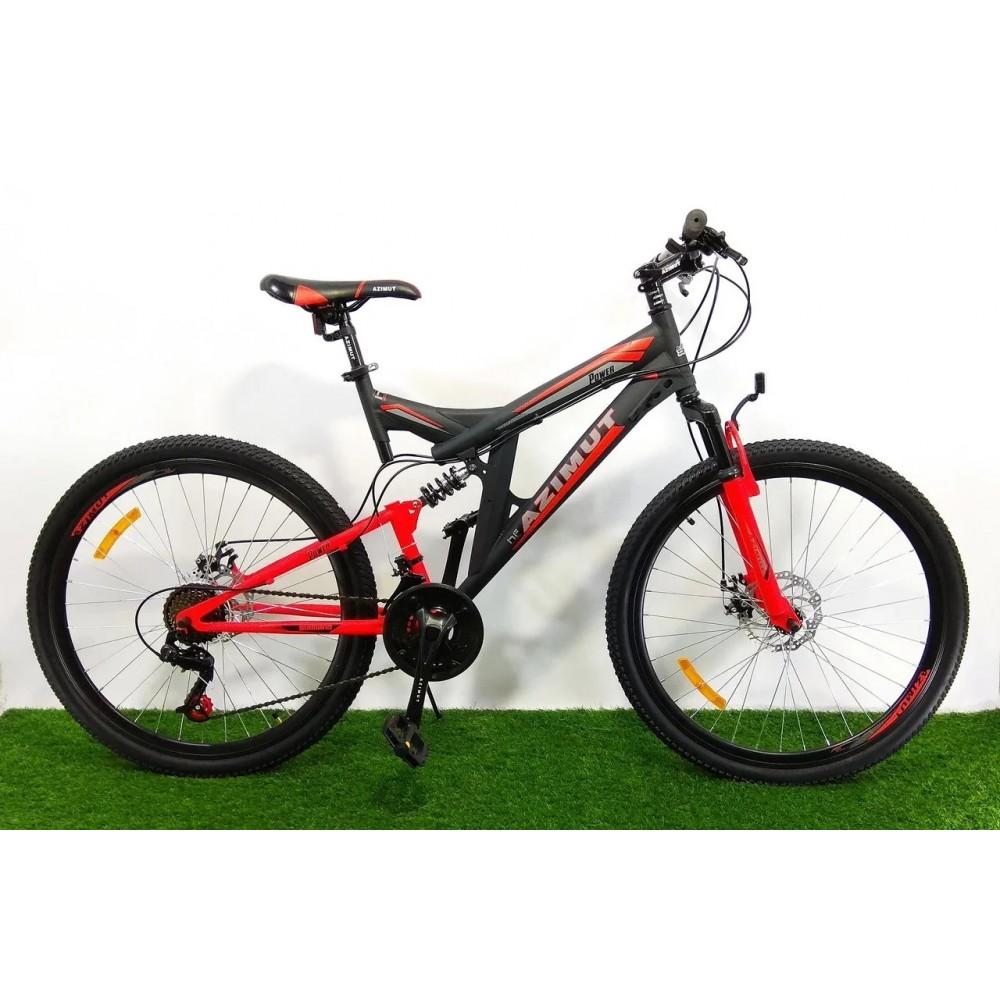 Горный подростковый двухподвесный велосипед Azimut Power 24 D, рама 17