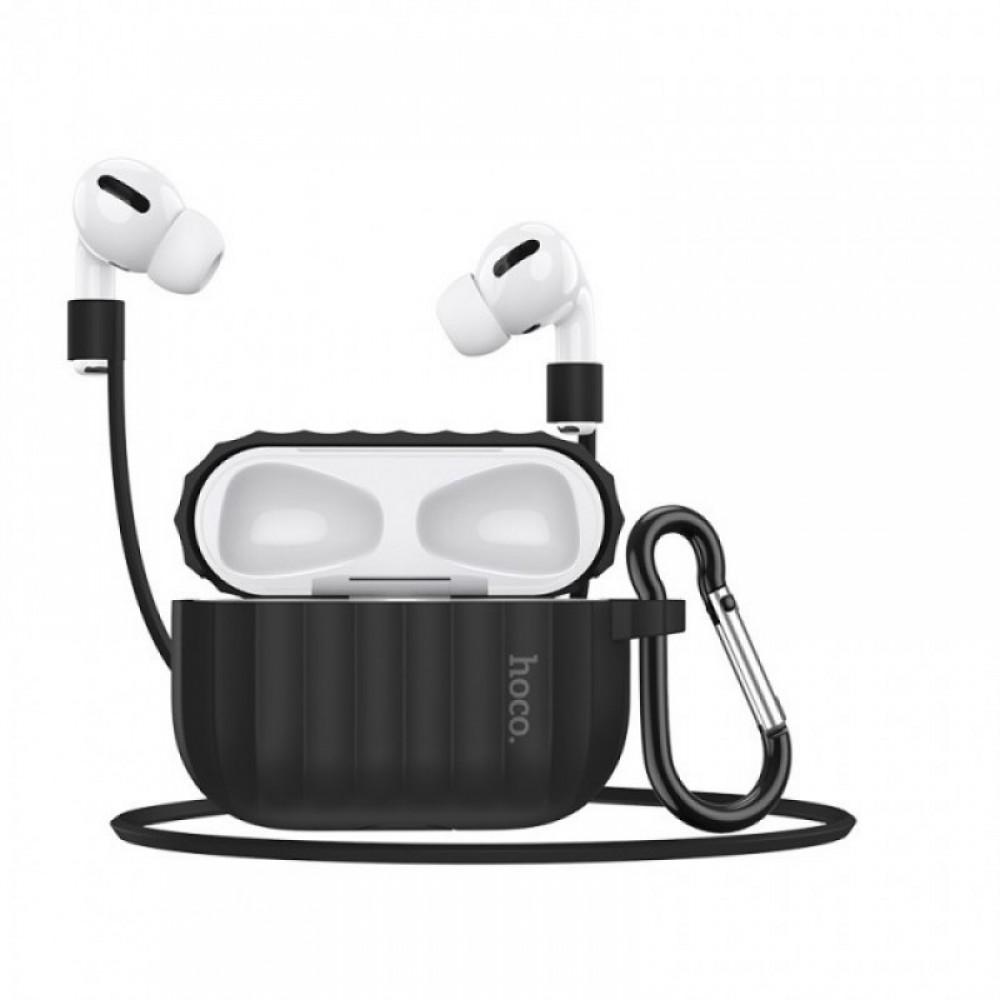 Комплект для Apple Airpods Pro Hoco WB20 Fenix protective cover Black