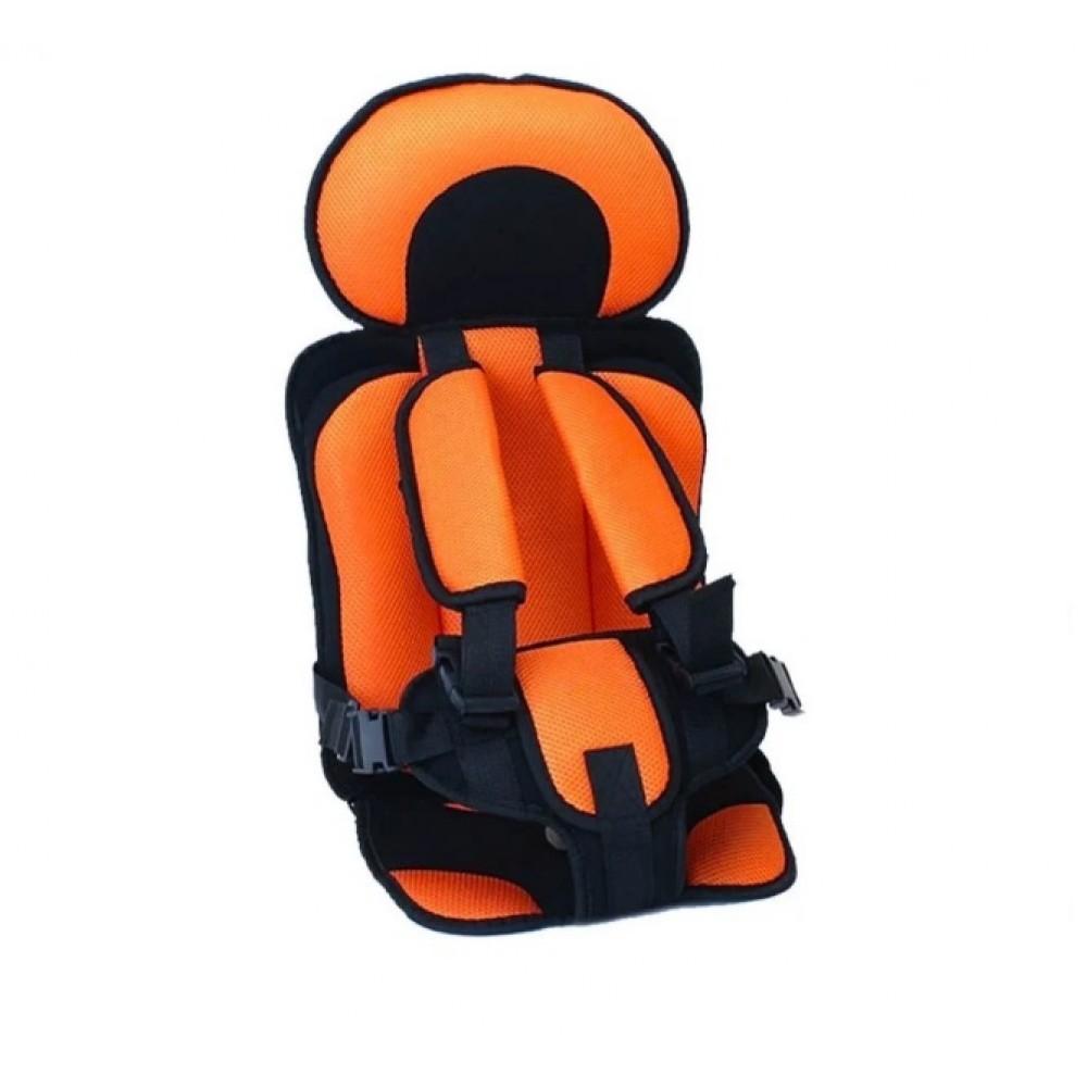Портативное бескаркасное детское автокресло от 1 года до 9 лет orange