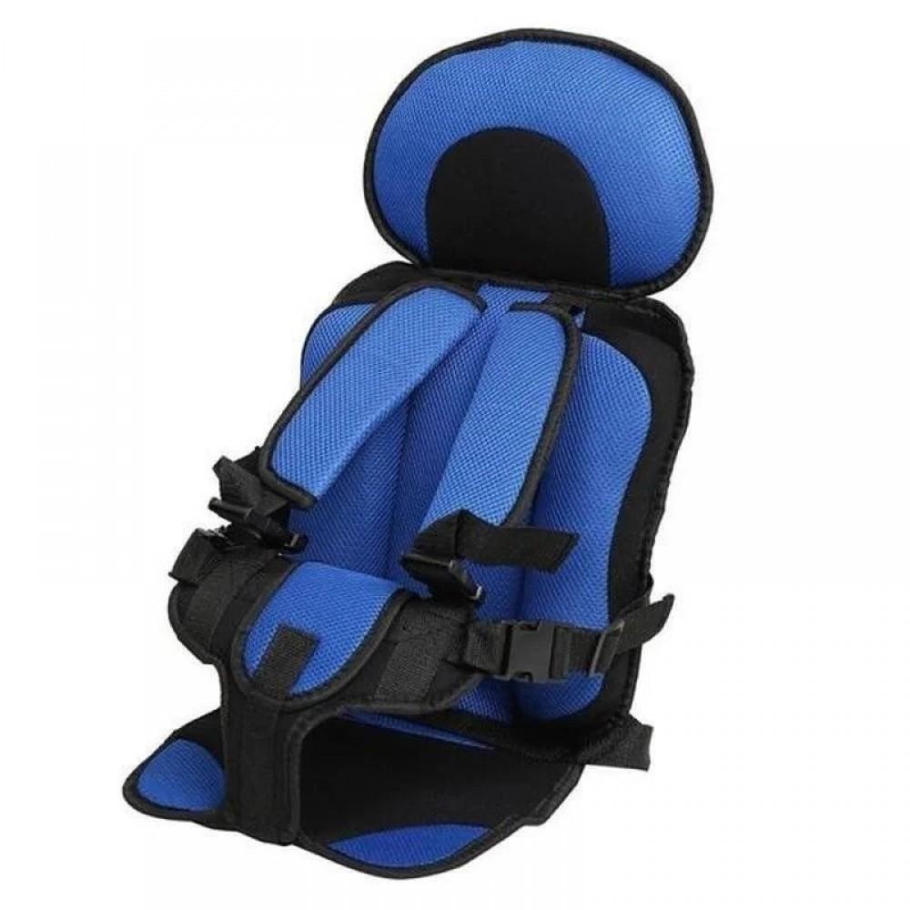 Портативное бескаркасное детское автокресло от 1 года до 9 лет blue