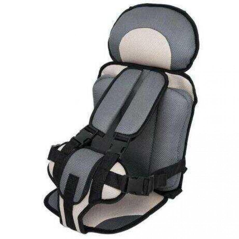 Портативное бескаркасное детское автокресло от 1 года до 9 лет grey