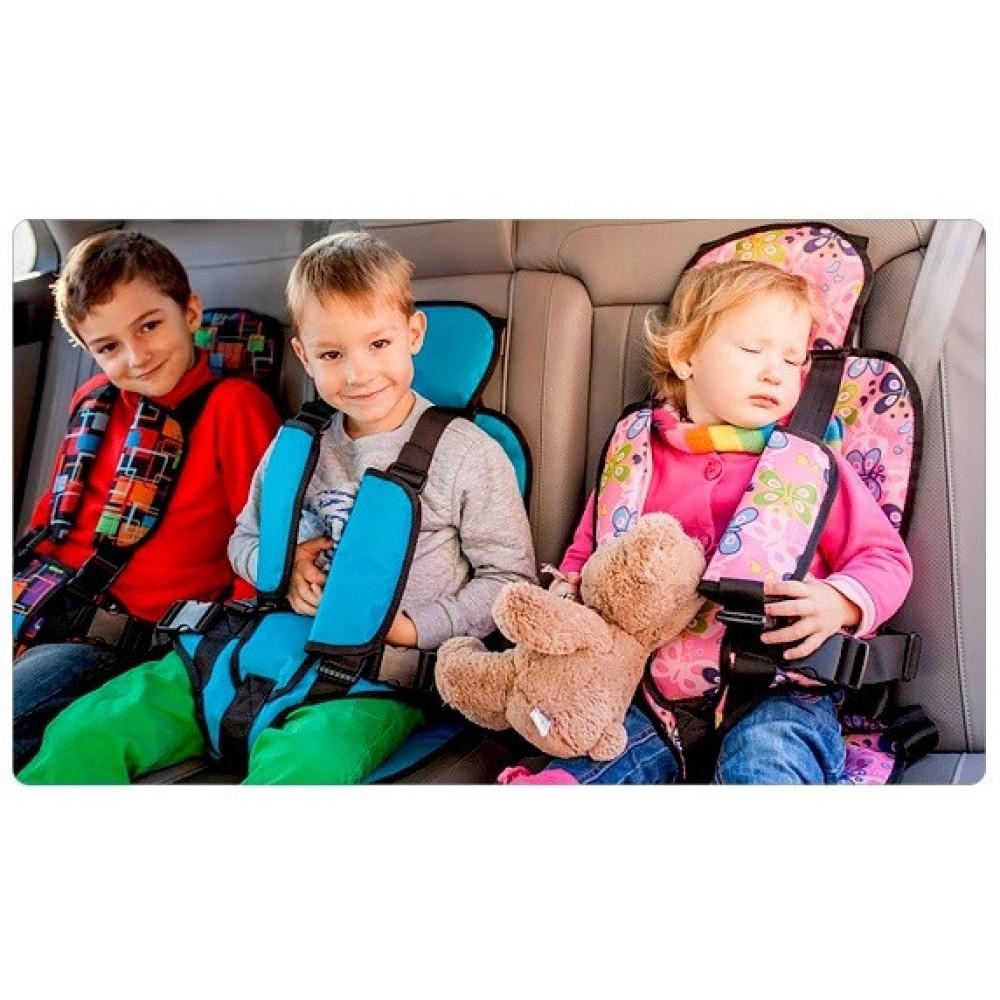 Детское бескаркасное автокресло для всех возрастов 9-36 кг pink