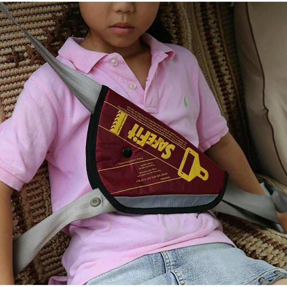 Детское удерживающее устройство ФЭСТ SafeFit, треугольник адаптер ремней безопасности  red