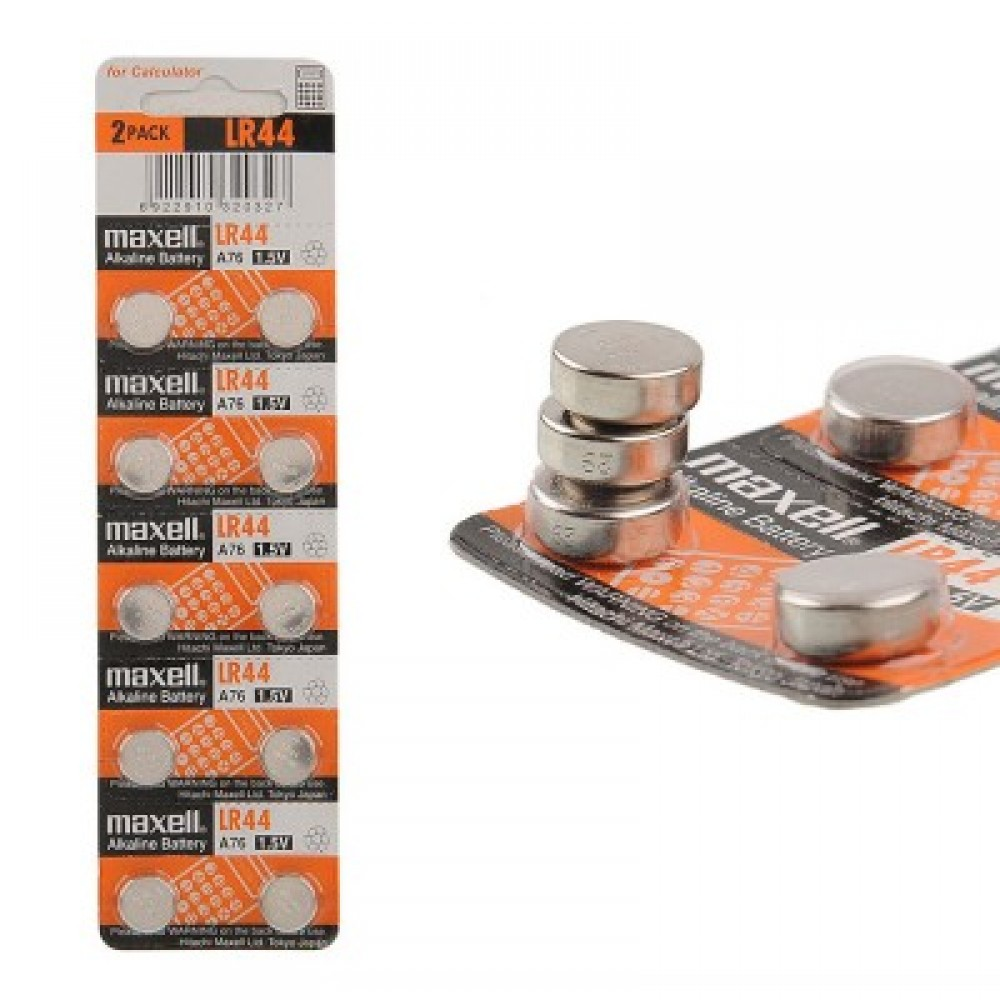 Батарейка G13 Maxell Alkaline 1,5V, 10 шт