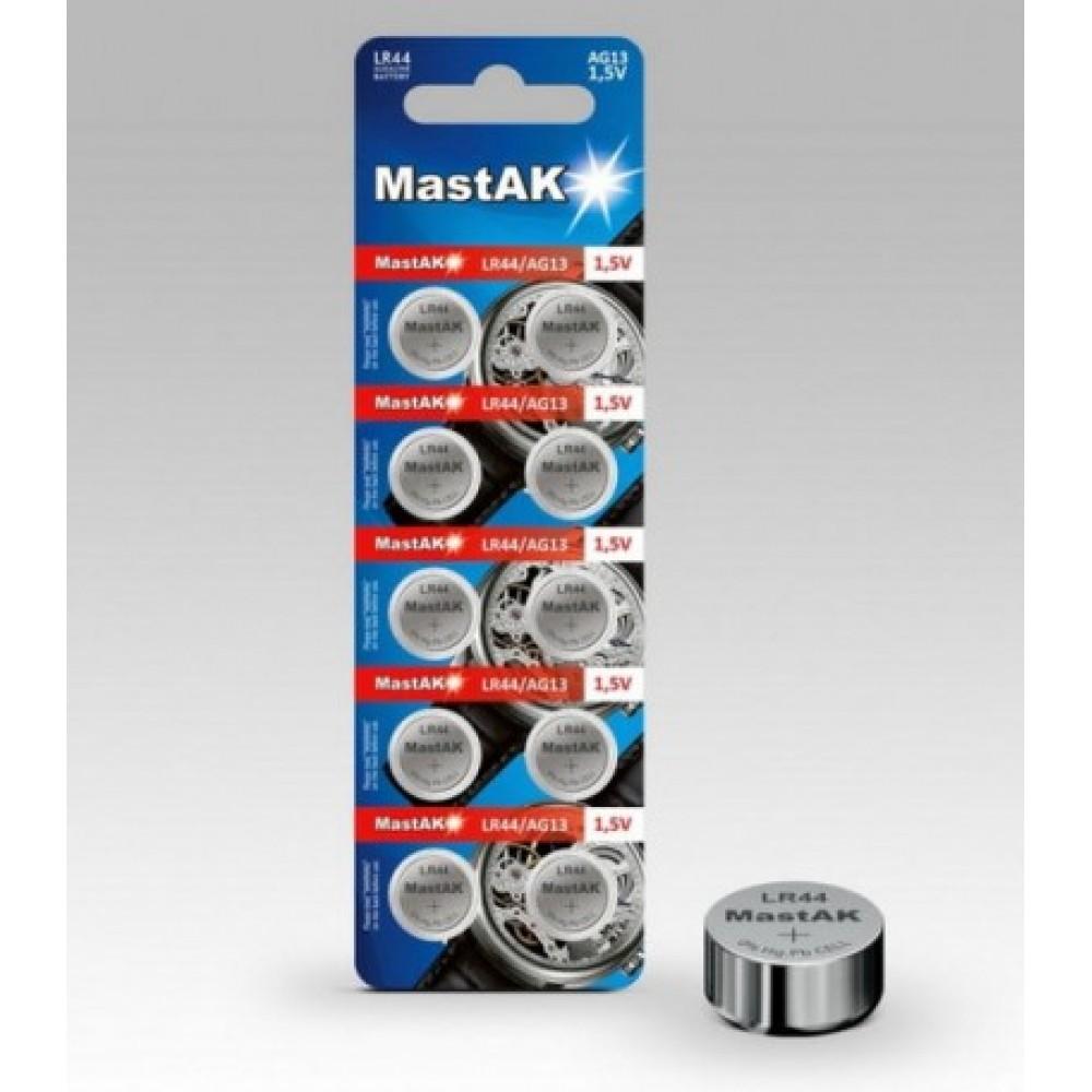 Батарейка G13 Mastak Alkaline 1,5V, 10 шт
