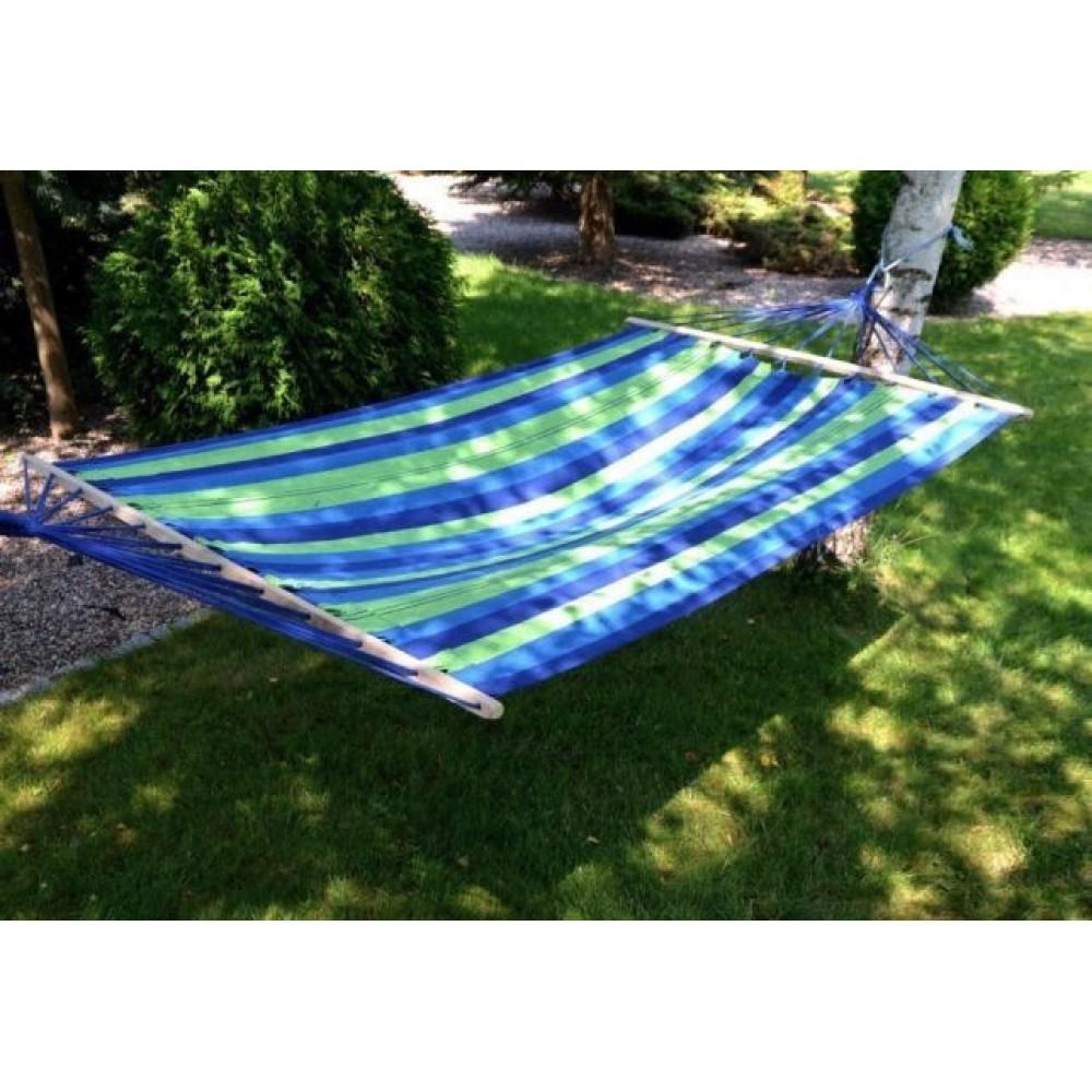 Тканевый гамак Swing с деревянной перекладиной 200x80 см, синий
