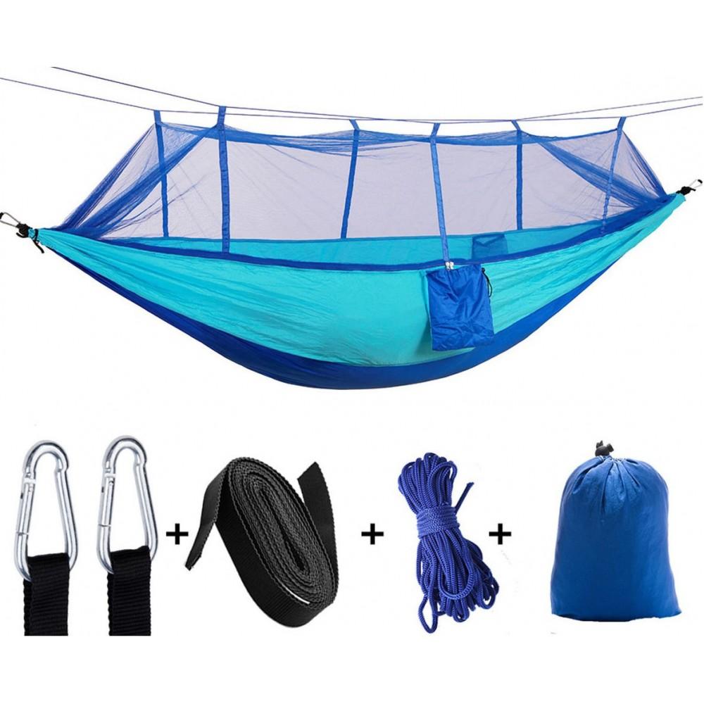 Туристический гамак с москитной сеткой Hammock Net Blue, 260*130