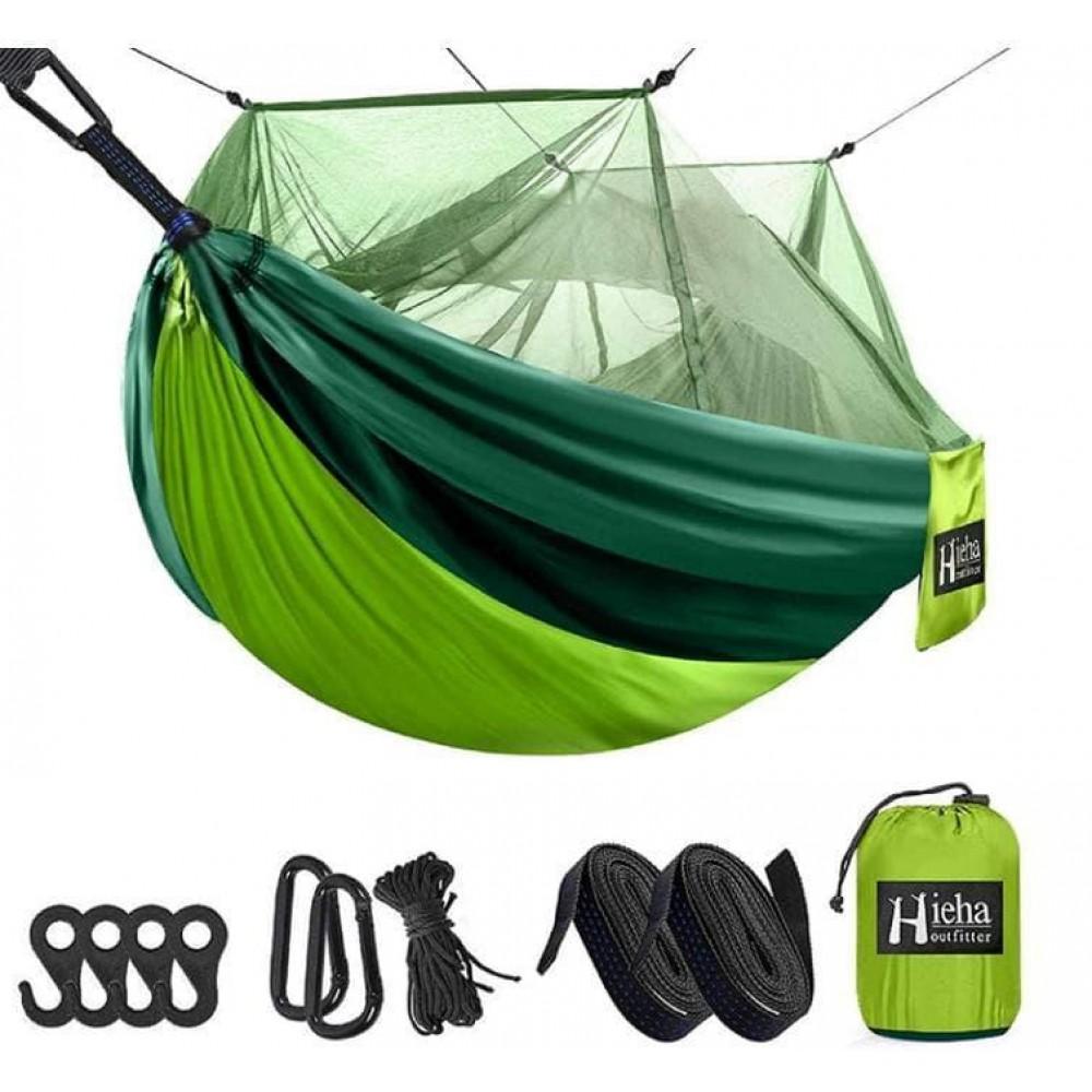 Подвесной гамак с москитной сеткой Hammock Net Green, 260х130 см