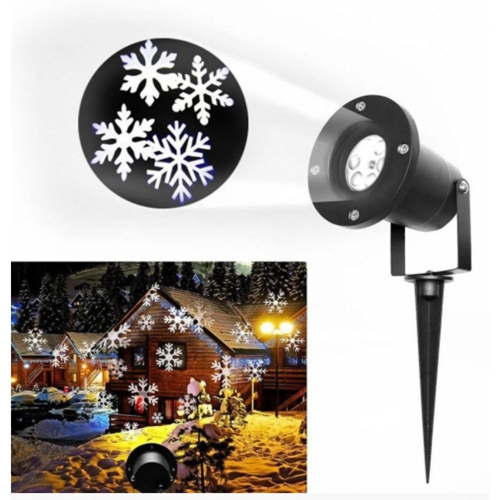 Лазерный проектор Star Shower WP1 белый снег 3274