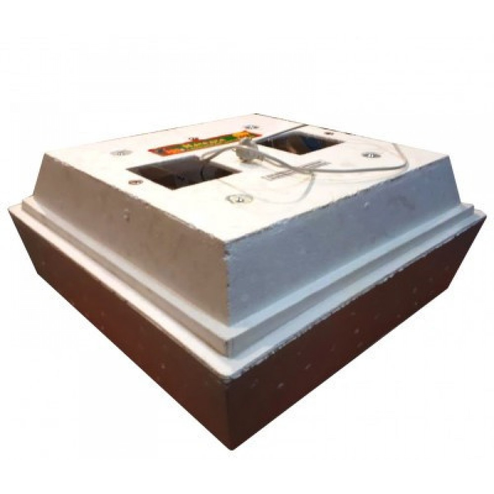 Инкубатор Наседка-120 (72) ручной переворот, аналоговый регулятор с градусником, 2 лампочки